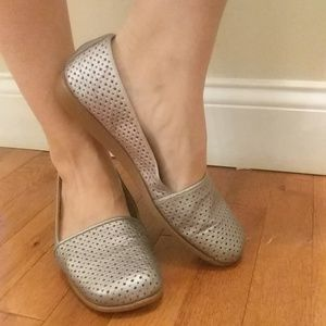 Slip on Silver loafers